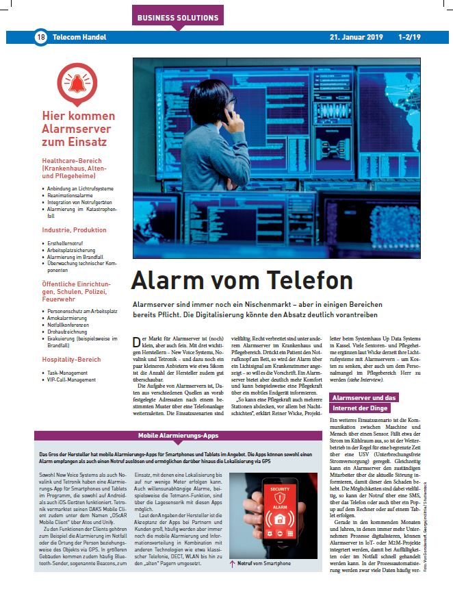 DAKS in the press: Telecom Handel Ausgabe 1-2/2019