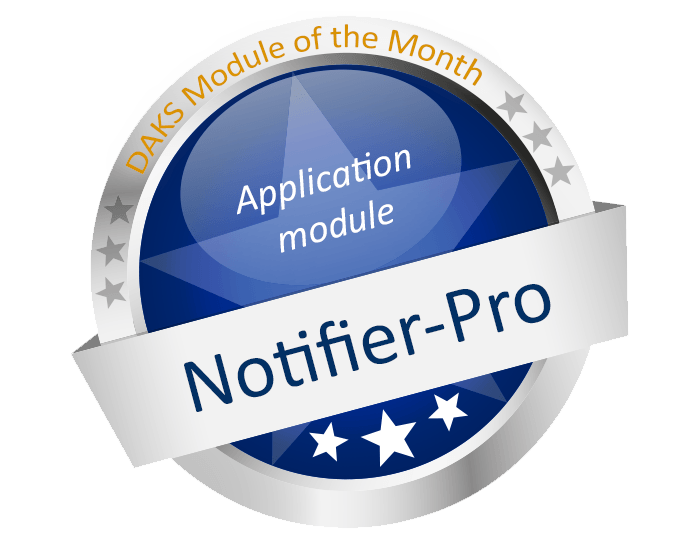 Convenient messaging without limitations w/ the DAKS application module 'Notifier-Pro'