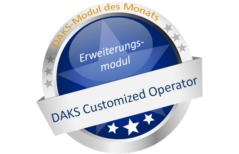 DAKS-Modul des Monats 'DAKS Customized Operator'