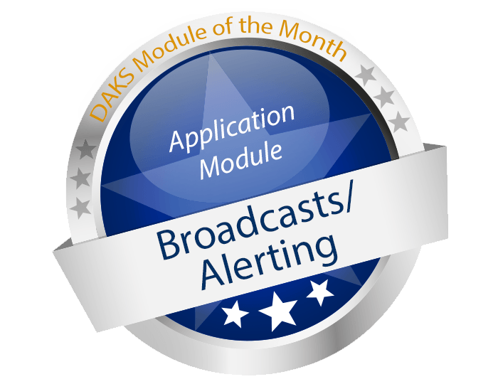 Application module 'Broadcasting / Alerting' brings DAKS to life
