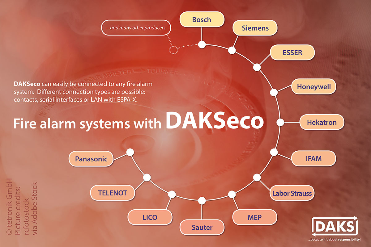 Effective fire protection: Connecting fire alarm systems to DAKSeco