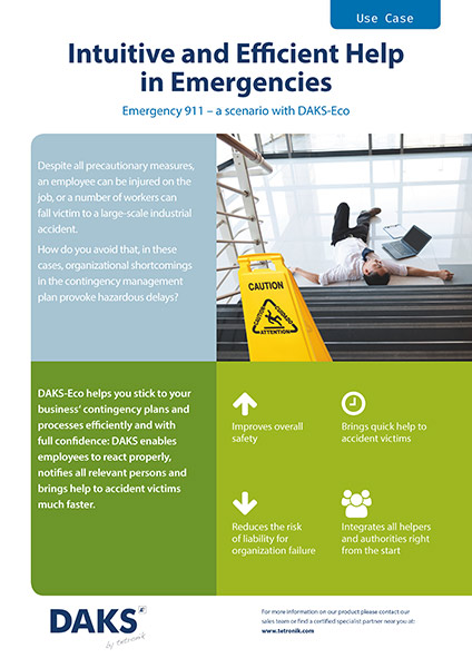 DAKSeco application example industrial accidents