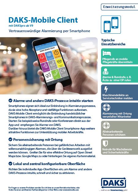 DAKS-Mobile Client – Produktinfo