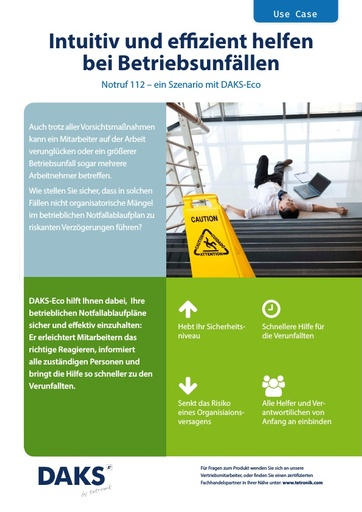 Flyer Use Case DAKS-Eco 'Notruf 112'