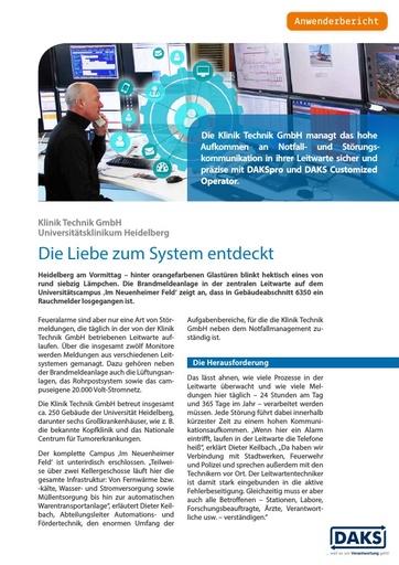 Uniklinik Heidelberg – Die Liebe zum System entdeckt