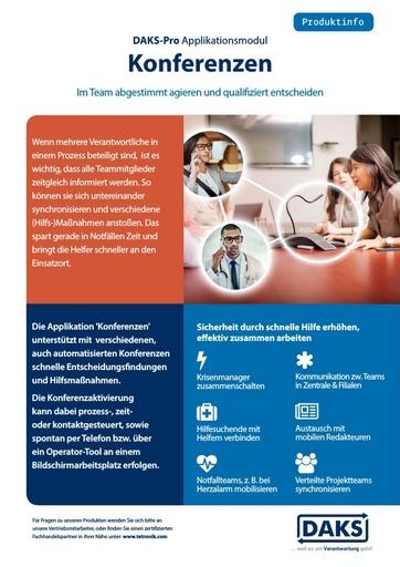 DAKSpro Applikationsmodul Konferenzen – Produktinfo