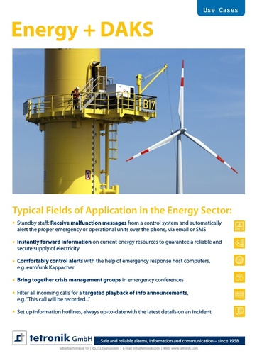Examples of use in the Energy Sector