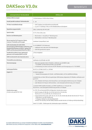 DAKSeco V3.0 – Datenblatt