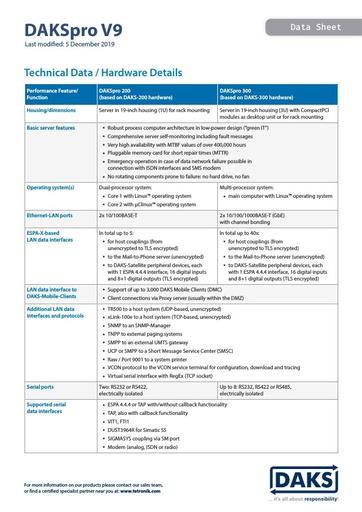 DAKSpro V9 – Data Sheet