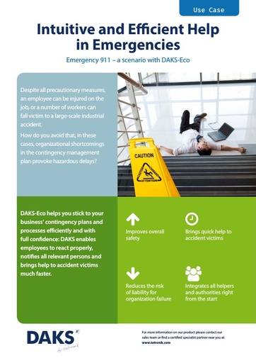 'Emergency 911' Scenario for DAKS-Eco