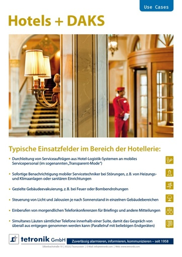 Flyer Use Cases Hotellerie