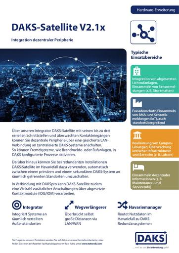 DAKS-Satellite V2.0x – Produktinfo und Datenblatt