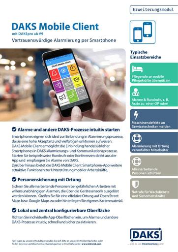 DAKS Mobile Client – Produktinfo