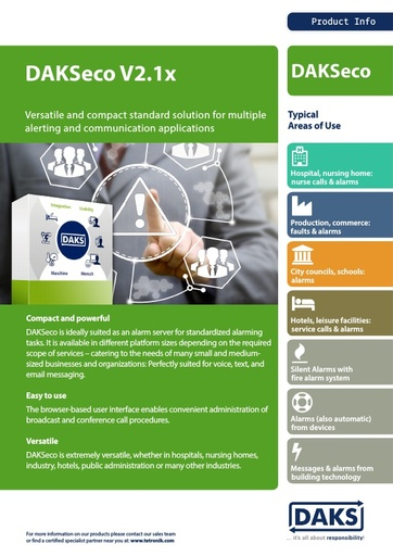 DAKSeco 2.1x – Product Info