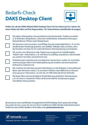 Bedarfs-Check DAKS Desktop Client