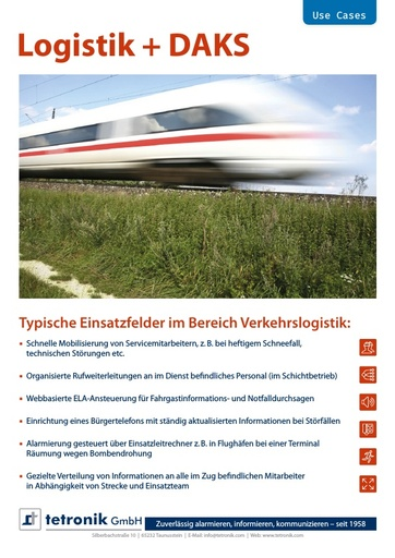 Flyer Use Cases Logistik
