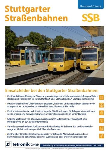 Stuttgarter Straßenbahnen SSB