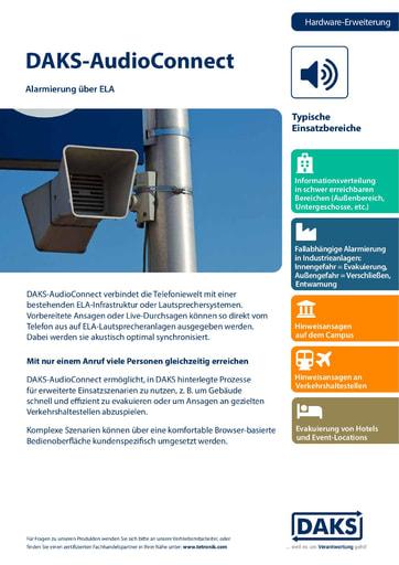 DAKS-AudioConnect V2.0x – Produktinfo und Datenblatt