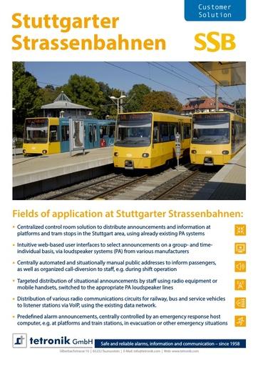 Stuttgarter Strassenbahnen SSB