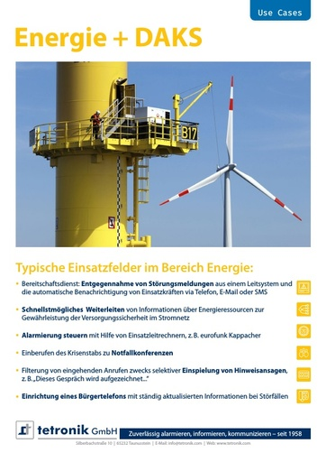 Flyer Use Cases Energie