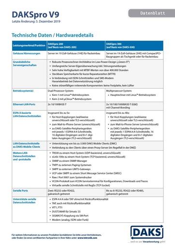 DAKSpro V9 – Datenblatt