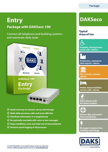 DAKSeco 100 – Entry Package