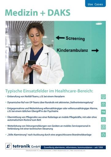 Flyer Use Cases Gesundheitswesen