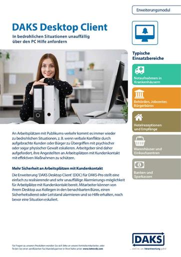 DAKSpro-Erweiterungsmodul 'DAKS Desktop Client' –Produktinfo