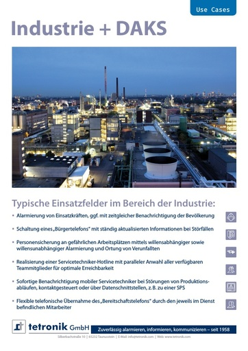 Flyer Use Cases Industrie